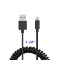CAQ-85-BK CAVO USB2.0 SPIRALATO M/MICRO USB 1.5M