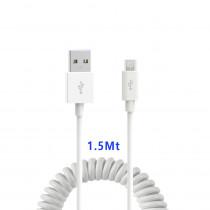 CAQ-85-WT CAVO USB2.0 SPIRALATO M/MICRO USB 1.5M