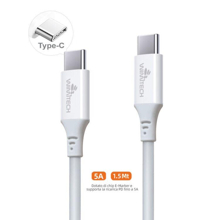 CAQ-116 CAVO USB2.0 TIPO C/C M/M 1.5M 5A