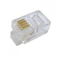 CA-1051 CONNETTORE PLUG TELEFONICO 6P4C PACK10