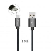 CAQ-103-GY CAVO USB2.0 TIPO C/A M/M 1M