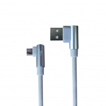 CAQ-106-SV CAVO USB2.0 M/MICRO USB 1M AD ANGOLO RETTO