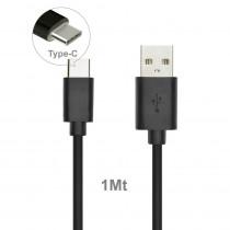 CAQ-93-BK CAVO USB2.0 TIPO C/A M/M 1M