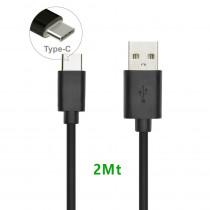 CAQ-94-BK CAVO USB2.0 TIPO C/A M/M 2M
