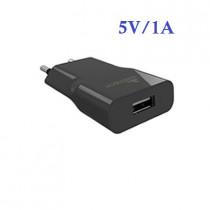 CCT-1061-BK CARICATORE DA RETE USB 5V/1A