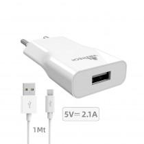 CCT-1077 CARICATORE DA RETE USB 5V/1A CON MICRO USB