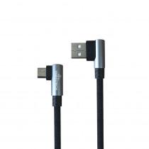 CAQ-106-GY CAVO USB2.0 M/MICRO USB 1M AD ANGOLO RETTO